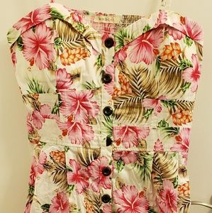 Hawaiian fit and flare dress